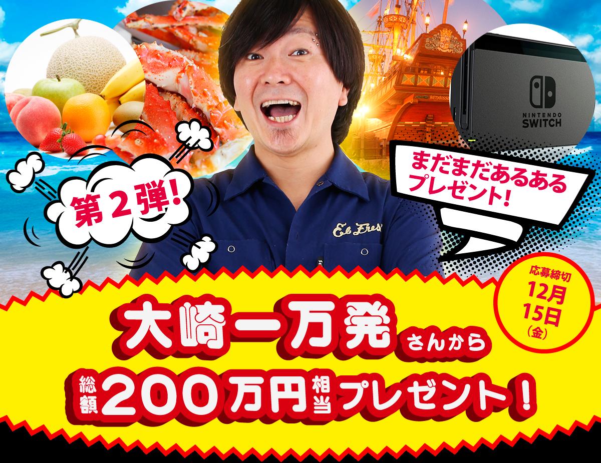 ガチパチ応援団公式サイト公開記念企画!大崎一万発さんからのプレゼント!